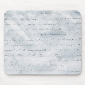 Wrinkled White Paper with Writing background Mouse Pad