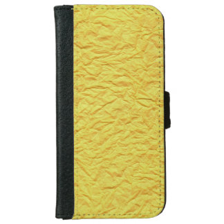 Wrinkled Yellow Paper Texture iPhone 6/6s Wallet Case