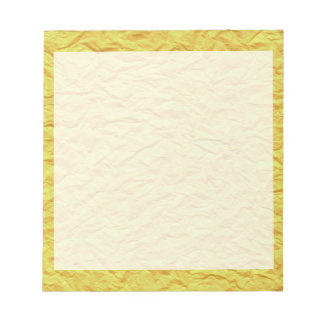 Wrinkled Yellow Paper Texture Notepad