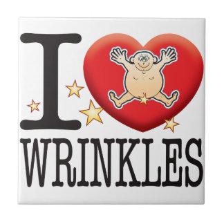 Wrinkles Love Man Tile
