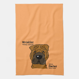 Wrinkles merely indicate smiles kitchen towel