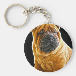 Wrinkles, The Chinese Shar Pei Puppy Dog Keychain