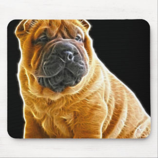 Wrinkles, The Chinese Shar Pei Puppy Dog Mouse Pad