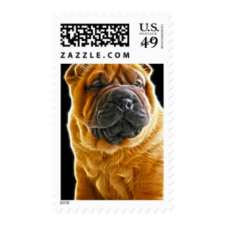 Wrinkles, The Chinese Shar Pei Puppy Dog Stamps