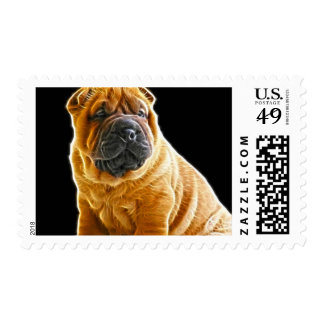 Wrinkles, The Chinese Shar Pei Puppy Dog Stamp