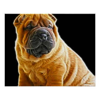 Wrinkles, The Chinese Shar Pei Puppy Dog Poster