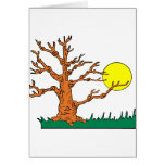wrinkly brown tree moon grass graphic greeting cards