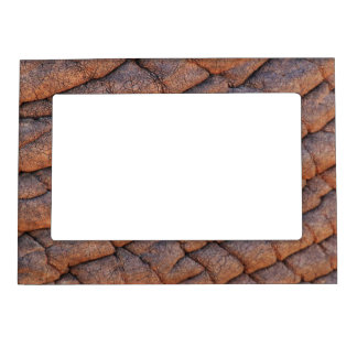 Wrinkly Elephant Skin Texture Template Magnetic Picture Frame