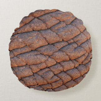 Wrinkly Elephant Skin Texture Template Round Pillow