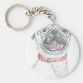 Wrinkly Pug Keychain