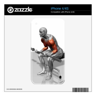 Wrist Curls Skins For iPhone 4S