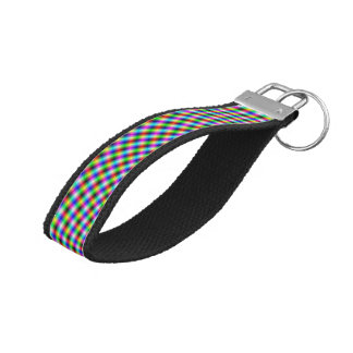 Wrist Keychain  Fanfare in Neon Lights