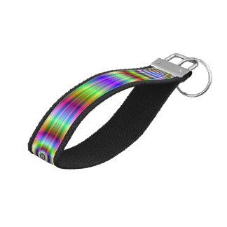 Wrist Keychain  Psychedelic Neon Catscradle