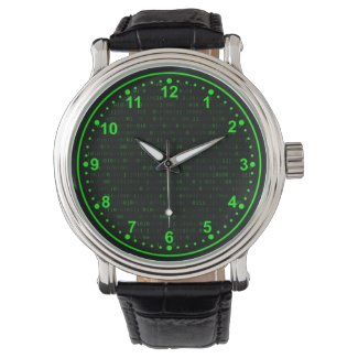 Wrist Watch Abstract Creative Background.