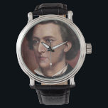 """Wrist Watch - Composers - Chopin<br><div class=""""desc"""">The image on this watch has been reproduced from an old postcard.</div>"""