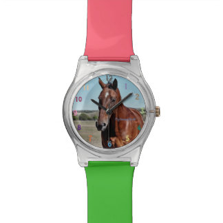 Wrist Watch with Horse image on face