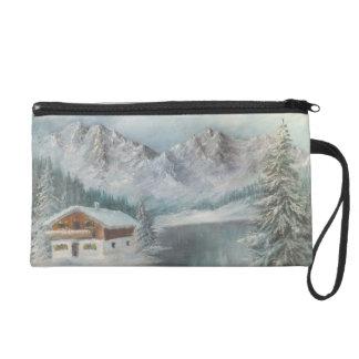 Wristlet Ann Hayes Painting Bavarian Snow Dream