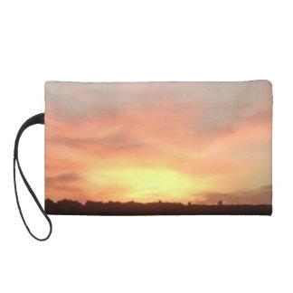 Wristlet Bag - Bright Burst Sunset Photo
