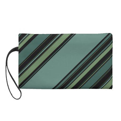 wristlet bag in Mint Static pattern