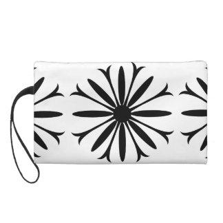 Wristlet BLACK & WHITE FLOWER LOGO