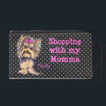 """Wristlet Custom Personalized Yorkie Pup Wrist Bag<br><div class=""""desc"""">Wristlet Custom Personalized Yorkie Wrist Bag with a touch of pink, in the design. I&#39;ve designed this purse with a Yorkie Miss on this handy little Purse from one of my original paintings. Just add your Pup&#39;s name to create your own little piece of art. I enjoy doing illustrations and...</div>"""
