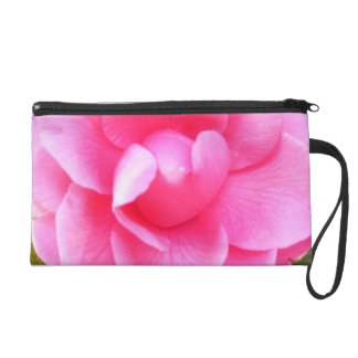Wristlet - Mini-Purse - Dark Pink Camellias 1 & 2