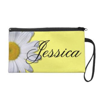 Wristlet - Mini-Purse - New Daisy on Yellow