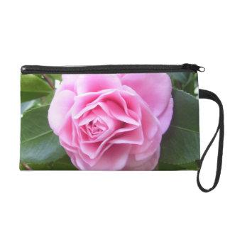 Wristlet - Mini-Purse - Rose Pink Camellia