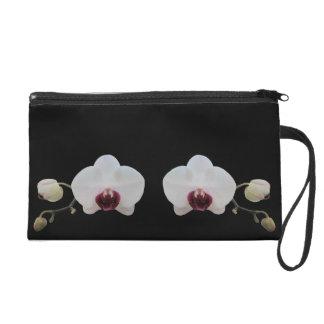 Wristlet - Mini-Purse - Ruby-Lipped White Orchid