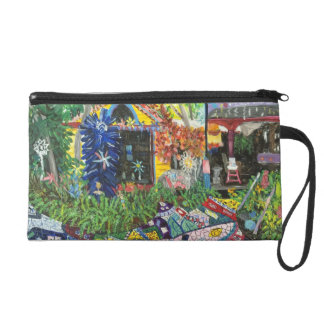 Wristlet with 2 gorgeous paintings