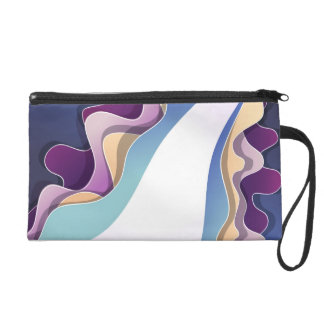 Wristlet  with abstract design