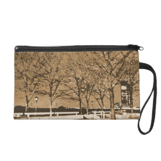 Wristlet with Aged Photo of Hudson River Harbor