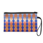 Wristlet with Blue Diamond and Metallic Background