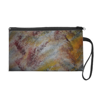 Wristlet with Feathers in the Wind On It