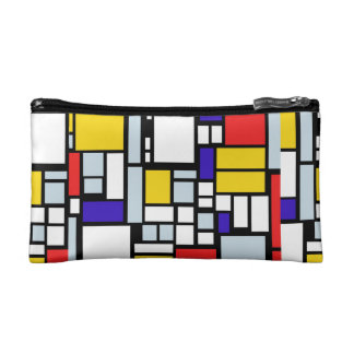 Wristlet with Geometric Pattern in Primary Colors