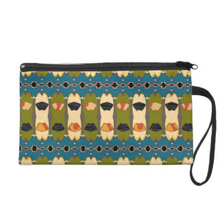 Wristlet with Intricate Abstract Design