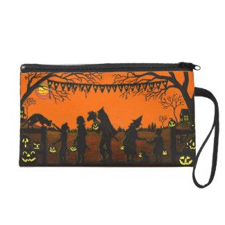 Wristlet,zippered,bag,Halloween,clutch,purse,dog Wristlet Purse