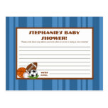 Writable Advice Card All-Star Blue Postcard