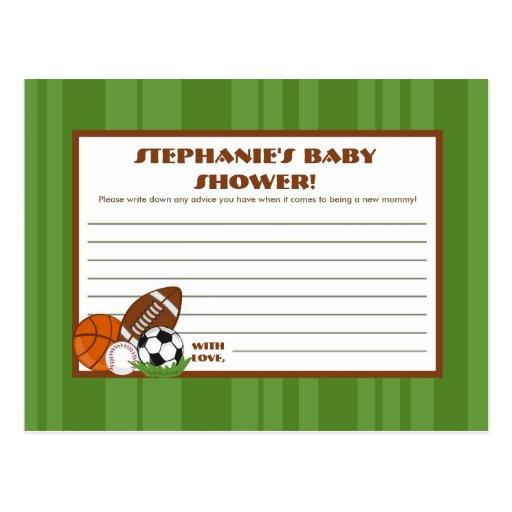 Writable Advice Card All-Star Green Postcard