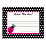 Writable Advice Card Black Spring Time Lady Bug Postcard