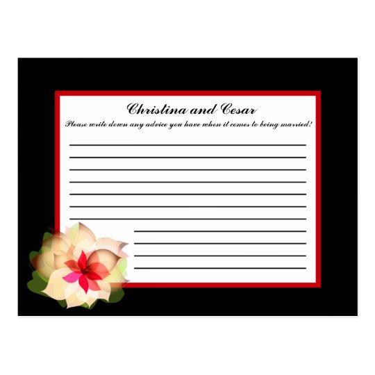 Writable Advice Card Colorful Lotus Flower black B
