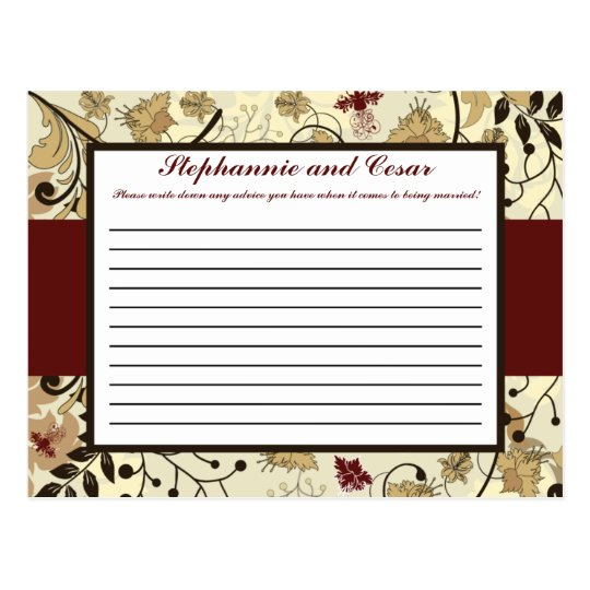 Writable Advice Card Fall Floral/Branches nature