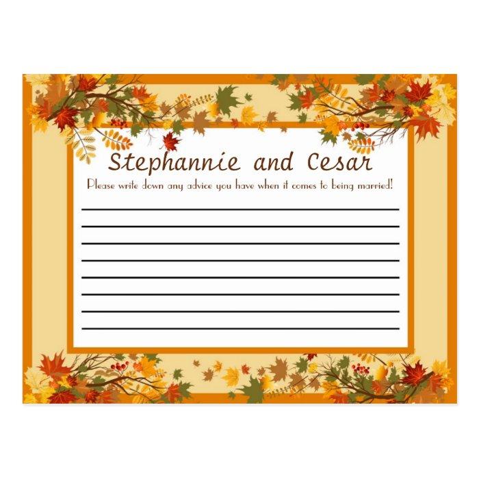 Writable Advice Card Foliage Branch
