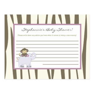 Writable Advice Card Jacana Jungle Girl Monkey