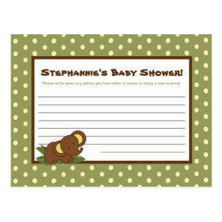 Writable Advice Card Jungle Babies