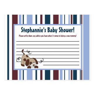 Writable Advice Card Lil League Puppy Dog Sports