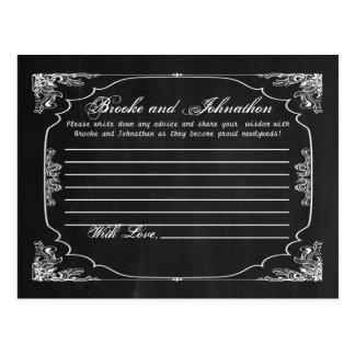 Writable Advice Card Modern Chalkboard Vintage Post Card