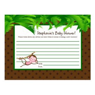 Writable Advice Card MonkeySwing Jungle Safari Zoo Postcard