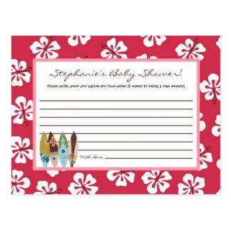Writable Advice Card Pink Hawaiian Luau Tropical