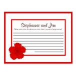 Writable Advice Card Red Cherry Blossom Post Card